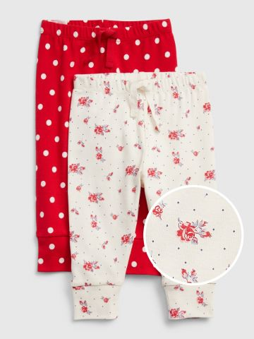 מארז 2 מכנסיים בהדפסים שונים / 0-24M