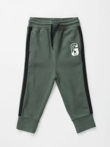 מכנסי פוטר עם לוגו וסטריפים / 12M-5Y