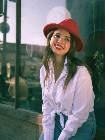 כובע צמר רחב שוליים Mamager
