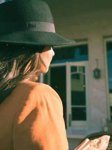 כובע צמר רחב שוליים Yin