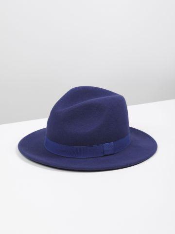 כובע צמר רחב שוליים Agent X