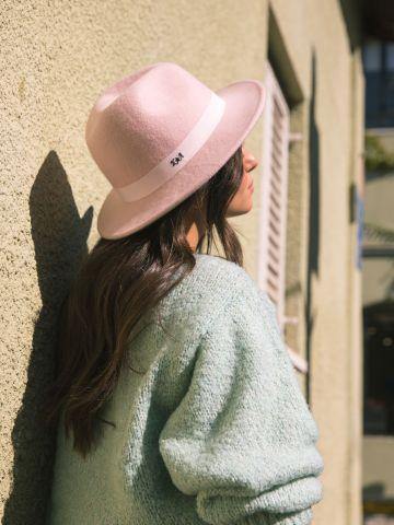 כובע צמר רחב שוליים KimOr