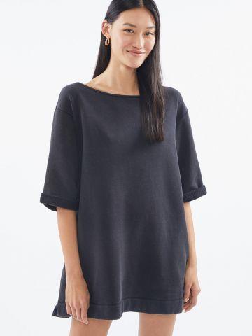 שמלת סווטשירט מיני עם כיסים UO