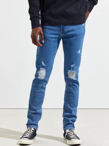 ג'ינס סקיני סלים עם קרעים BDG