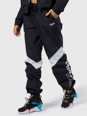 מכנסי ניילון ארוכים עם לוגו של REEBOK