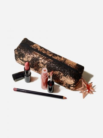 קיט שפתיים Starlit Lip Bag: Neutral / Starring You - Holiday Kits