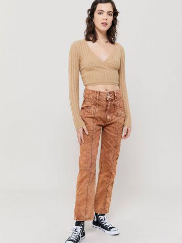 ג'ינס אסיד ווש בגזרה ישרה BDG של URBAN OUTFITTERS