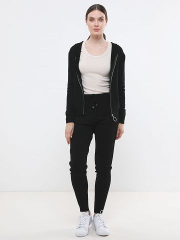 מכנסי סריג ארוכים עם כיסים