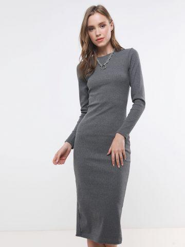 שמלת מידי ריב עם שסע