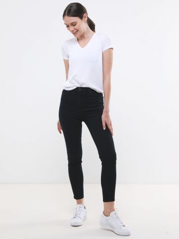 ג'ינס סקיני בשטיפה כהה Rise High Jeggings