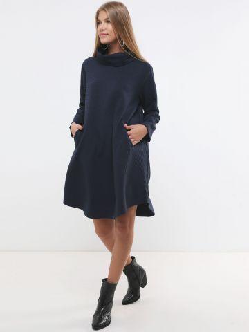 שמלת מידי אוברסייז בדוגמת פסים X ארבל