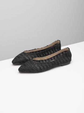 נעלי בובה בטקסטורת קליעה / נשים