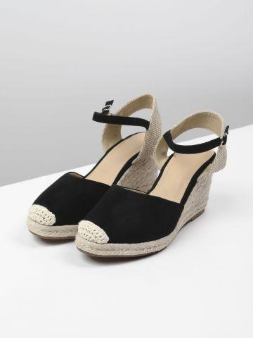 נעלי פלטפורמה אספדריל דמוי זמש של TERMINAL X