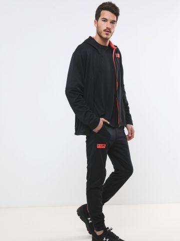 מכנסי טרנינג אקטיב עם הדפס לוגו Cold Gear