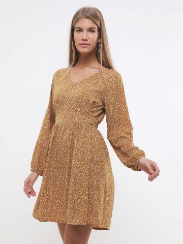 שמלת מיני בהדפס פרחים