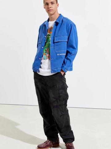 חולצה מכופתרת עם תפרים מודגשים UO