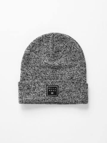 כובע גרב מלאנז' עם פאץ' לוגו / גברים