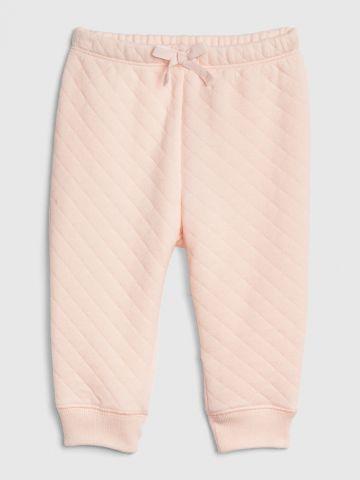 מכנסי טרנינג קווילט עם פפיון / 0-24M