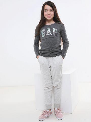 מכנסי טרנינג פוטר עם לוגו נצנצים