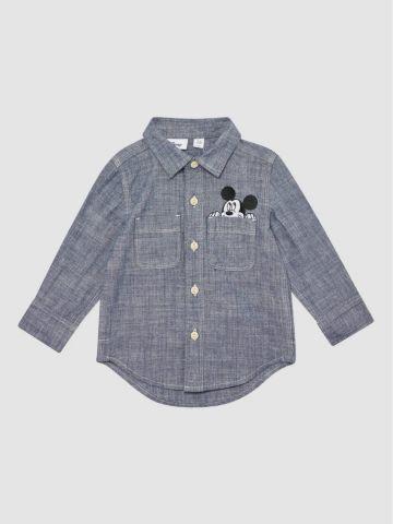 חולצה מכופתרת עם כיס מיקי / 12M-5Y של GAP