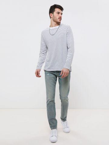 ג'ינס סקיני בשטיפה בהירה Skinny של GAP