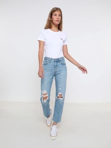 ג'ינס ישר עם קרעים 501