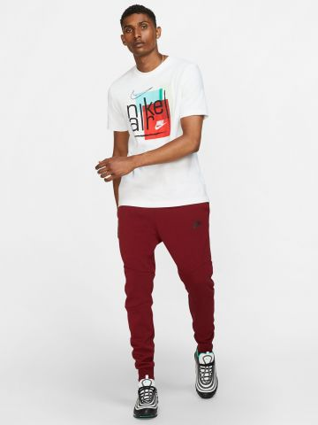 מכנסי טרנינג לוגו עם רוכסן מודגש Tech Fleece