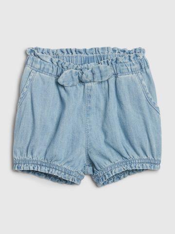 ג'ינס קצר עם גומי במותן / בייבי בנות