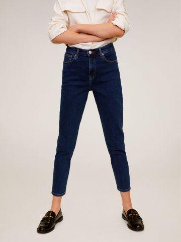 ג'ינס Mom סלים בשטיפה כהה
