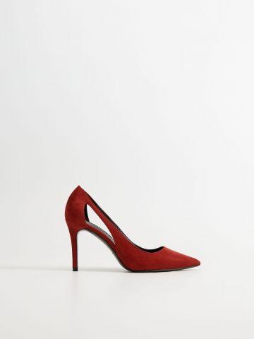 נעלי עקב סטילטו דמוי זמש