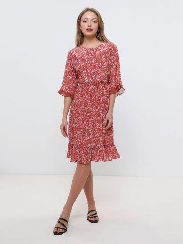 שמלת מידי בהדפס פרחים עם מלמלה X ארבל של YANGA