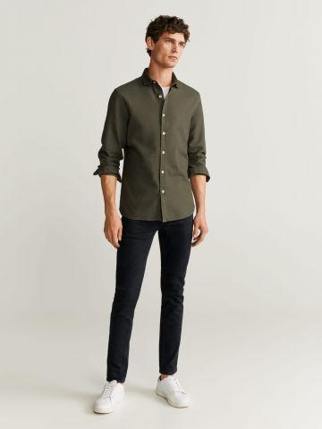 מכנסי ג'ינס סקיני ארוכים