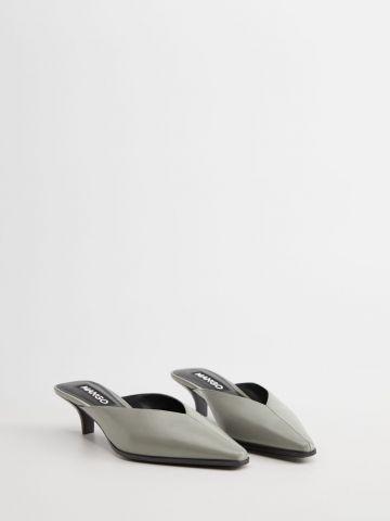 נעלי עקב עור מיולז