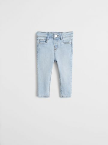 ג'ינס Slim Fit בשטיפה בהירה / 9M-4Y