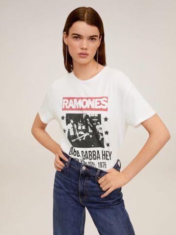 טי שירט עם הדפס Ramones