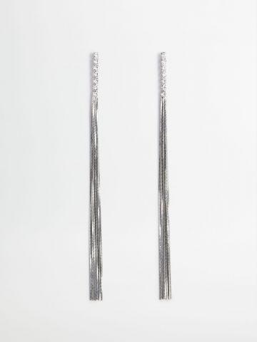 עגילים נתלים בשילוב זרקונים של MANGO