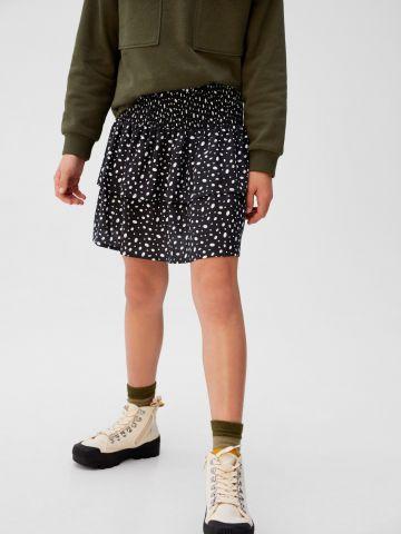 חצאית מיני בהדפס נקודות
