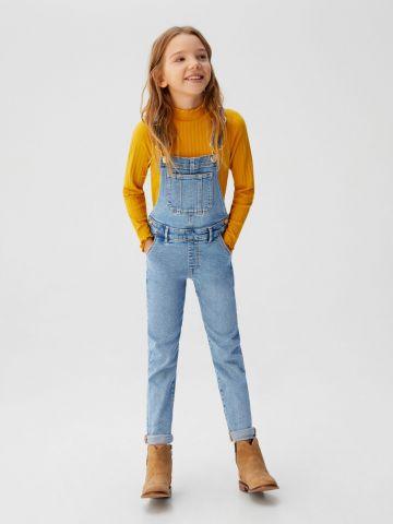 אוברול ג'ינס ארוך בגזרת סקיני
