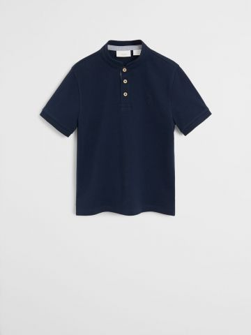 חולצת פולו עם צווארון סגור / בנים