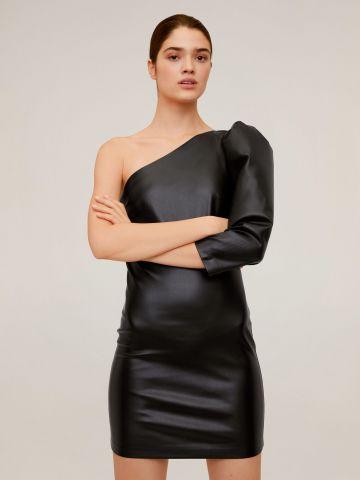 שמלת מיני דמוי עור וואן שולדר