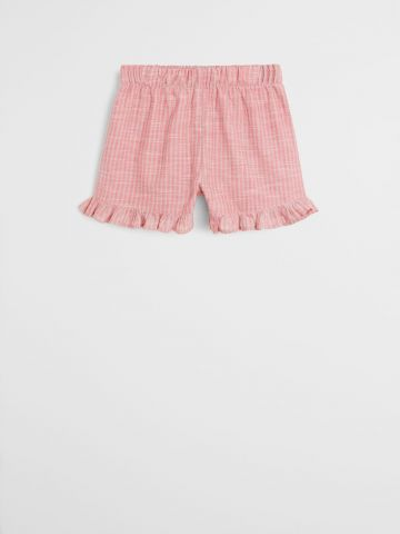 מכנסי קרפ קצרים בהדפס פסים / בנות