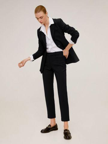 מכנסיים מחויטים Slim-Fit של MANGO