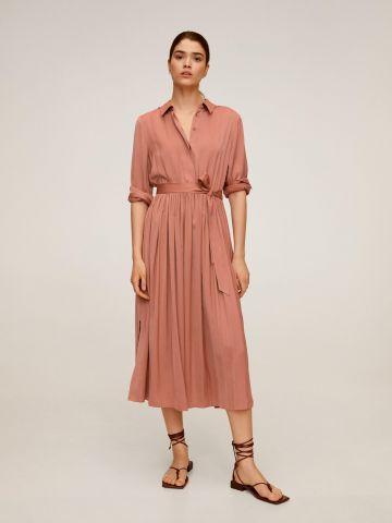 שמלת מקסי עם חצאית פליסה