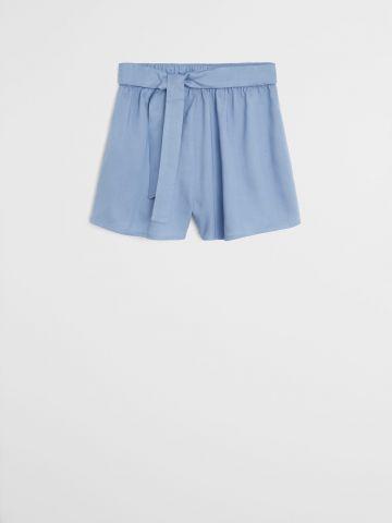 מכנסיים קצרים עם חגורת קשירה / בנות