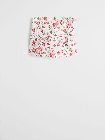 מכנסי חצאית בהדפס פרחים / בנות