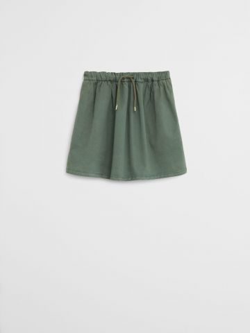 חצאית עם גומי ושרוך / 9M-4Y
