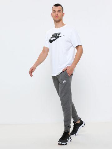 מכנסי טרנינג ארוכים עם רקמת לוגו
