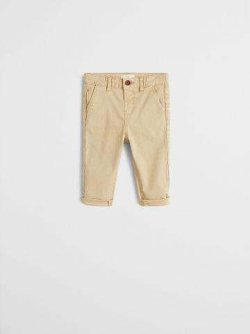 מכנסיים ארוכים בגזרה ישרה / 9M-4Y