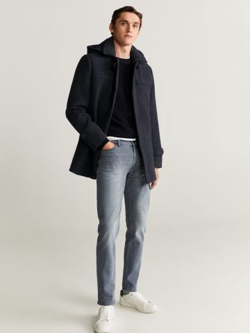 ג'ינס סלים-פיט בשטיפה בהירה