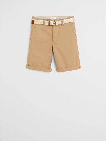 מכנסי ברמודה קצרים עם חגורה / בנים